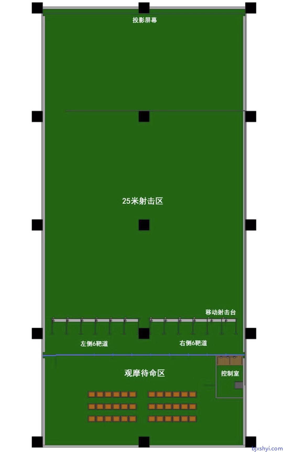 鑫晟恒亿军警模拟射击训练靶场建设效果图1