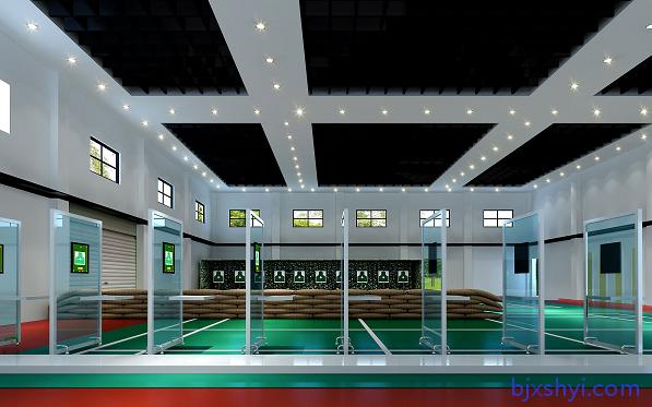 室内室外模拟实弹射击训练实物靶,激光打靶射击训练系统