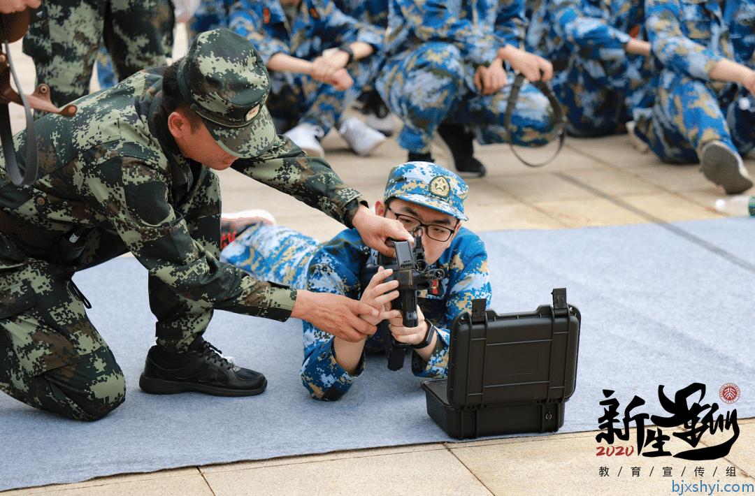 北京大学2020新生军训轻武器射击打靶现场