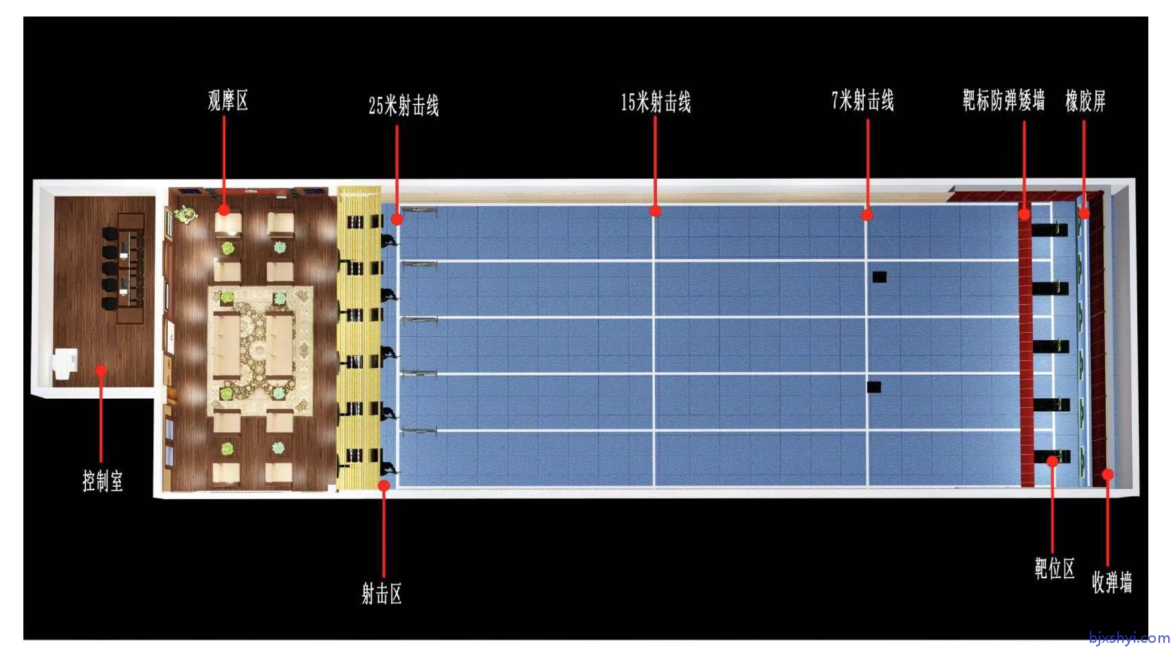 鑫晟恒亿军警模拟射击训练靶场建设效果图8